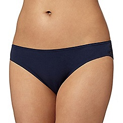 Debenhams - Navy lace back 'invisible' brazilian briefs