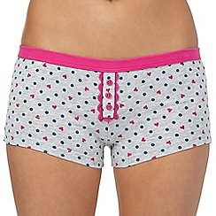 Debenhams - Grey spot boxer shorts