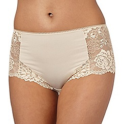 Debenhams - Natural lace side midi briefs