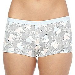 Debenhams - Grey polar bear printed boxers