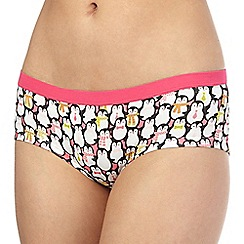 Debenhams - Pink penguin printed low rise shorts