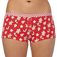 Debenhams - Red gingerbread boxers