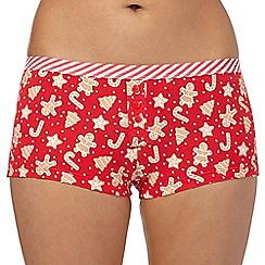 Debenhams - Red gingerbread boxers
