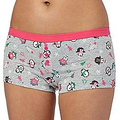 Debenhams - Grey penguin boxers