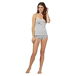 Debenhams - Grey hedgehog vest and briefs set