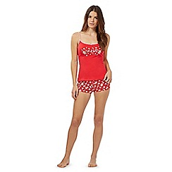 Debenhams - Red gingerbread vest and boxers pyjama set