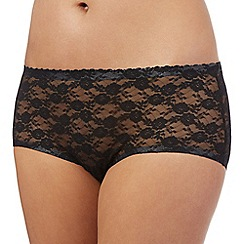 Debenhams - Black lace short briefs