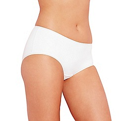 Debenhams - White 'invisible' super soft shorts