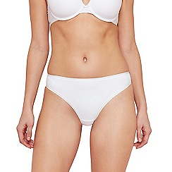 The Collection - White seamless thong