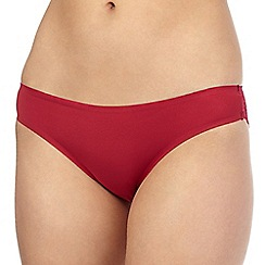 Debenhams - Red 'invisible' lace back brazilian briefs