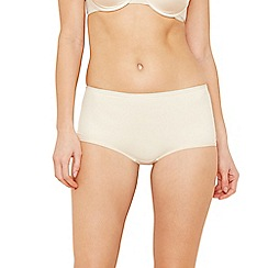 Debenhams - Natural 'invisible' super soft full briefs