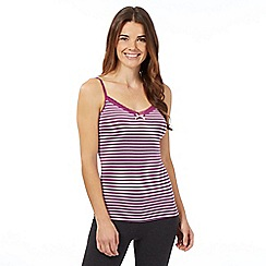 Debenhams - Purple striped 'MicroModal' vest
