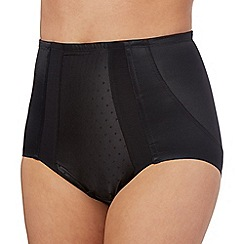 Debenhams - Black extra firm control low leg briefs