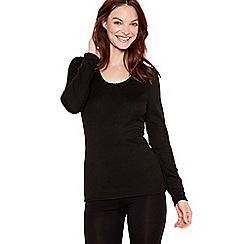 Debenhams - Pack of two black thermal tops