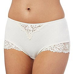 Debenhams - Cream lace full briefs