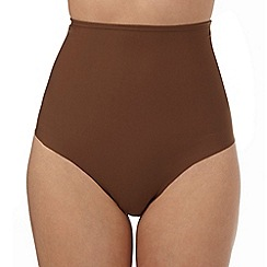 The Collection - Brown medium control high waist thong