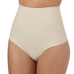 The Collection - Nude medium control high waist thong