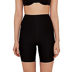 Debenhams - Black thigh length medium control shapewear shorts