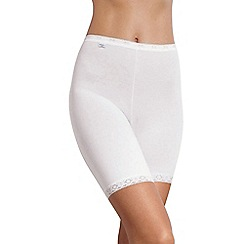 Sloggi - White basic long briefs