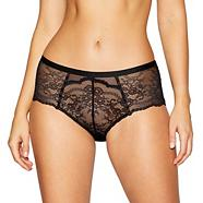 Black lace insert bow shorts