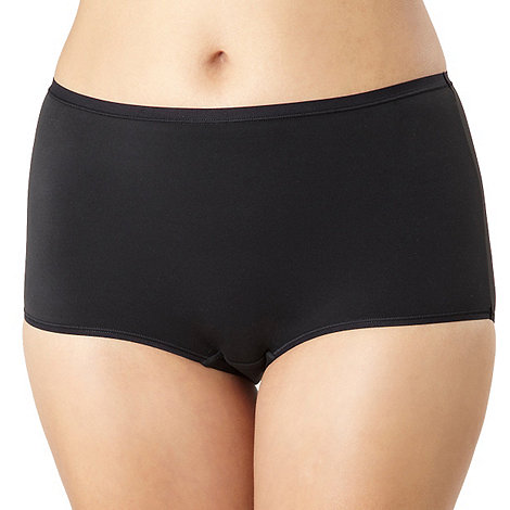 Debenhams - Black super soft full briefs