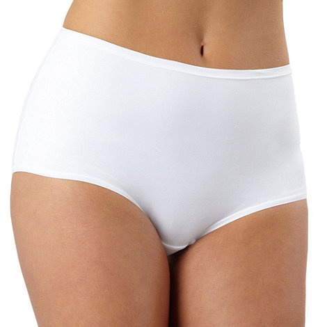 Debenhams - White super soft invisible full briefs