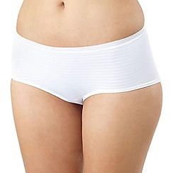 Debenhams - White shadow stripe invisible shorts