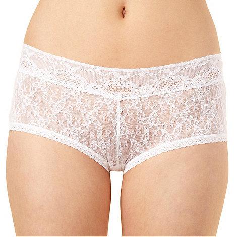 Debenhams - White lace shorts