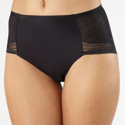 Black Invisible midi briefs