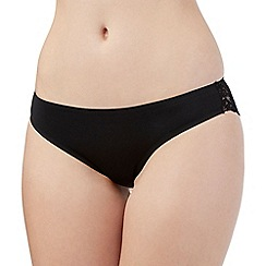 Debenhams - Black lace back invisible brazilian briefs