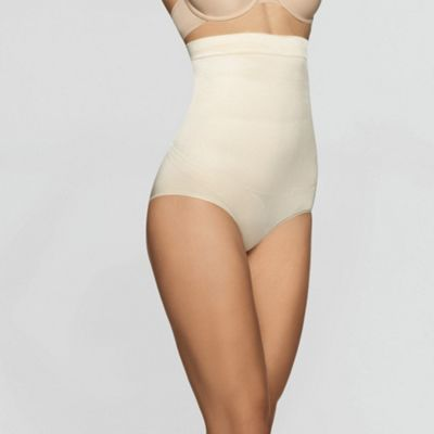 Shiny high waist shapewear briefs