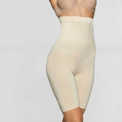 Shiny high waist thigh slimmers