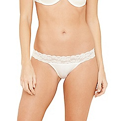 Debenhams - Ivory lace brazilian briefs