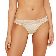 Natural lace brazilian briefs