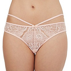 Debenhams - Light pink lace cut-out thong
