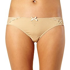 Debenhams - Natural lace back brazilian briefs