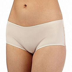 Debenhams - Natural lace trimmed invisible shorts