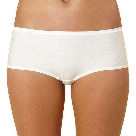 Debenhams - Cream spotted invisible shorts