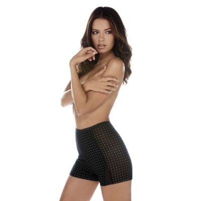 Black Diva Dot shapewear shorts