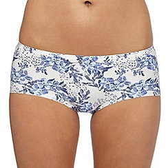The Collection - Ivory floral print invisible shorts