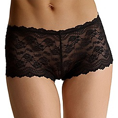 Debenhams - Black all over lace shorts