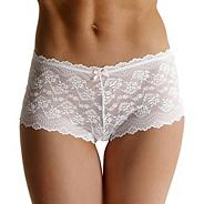 White all over lace shorts