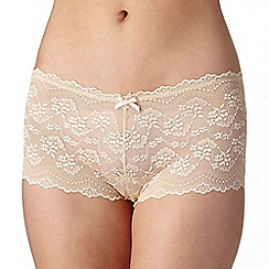 Debenhams - Natural all over lace shorts