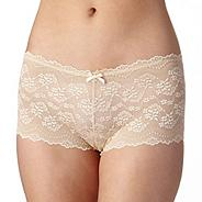 Natural all over lace shorts