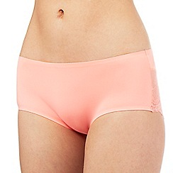 The Collection - Peach floral lace invisible shorts