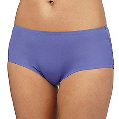 The Collection - Purple floral lace invisible shorts