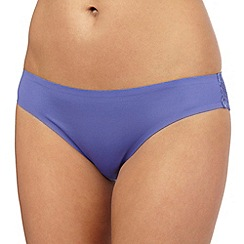 The Collection - Purple floral lace invisible Brazilian briefs