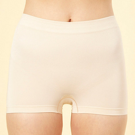 Maidenform - Natural shiny firm control boy shorts