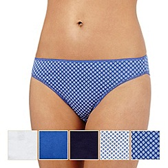 The Collection - Pack of five assorted floral high leg briefs