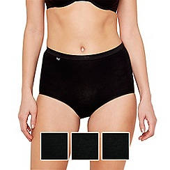 Sloggi - Pack of three black basic maxi briefs